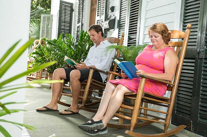 Porch Sitting in a Key West B&B